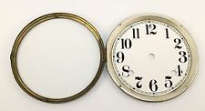 ANTIQUE CLOCK DIAL PAN, GLASS and BEZEL - could be SETH THOMAS!   RN99