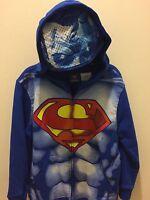 Superman Boys Costume Hoodie Halloween Hooded Sweatshirt Dc Comics V Batman