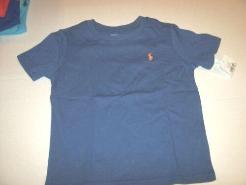 NEW POLO RALPH LAUREN SPTG Blue t shirt toddler boy  orange pony logo 12M 24M