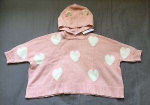 NWT Baby Gap Girls Size 2t or 5t Pink Bear Hoodie Sweater Jacket