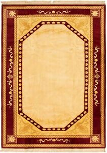 Hand-knotted-Turkish-Carpet-6-039-7-034-x-9-039-2-034-Ushak-Traditional-Wool-Rug