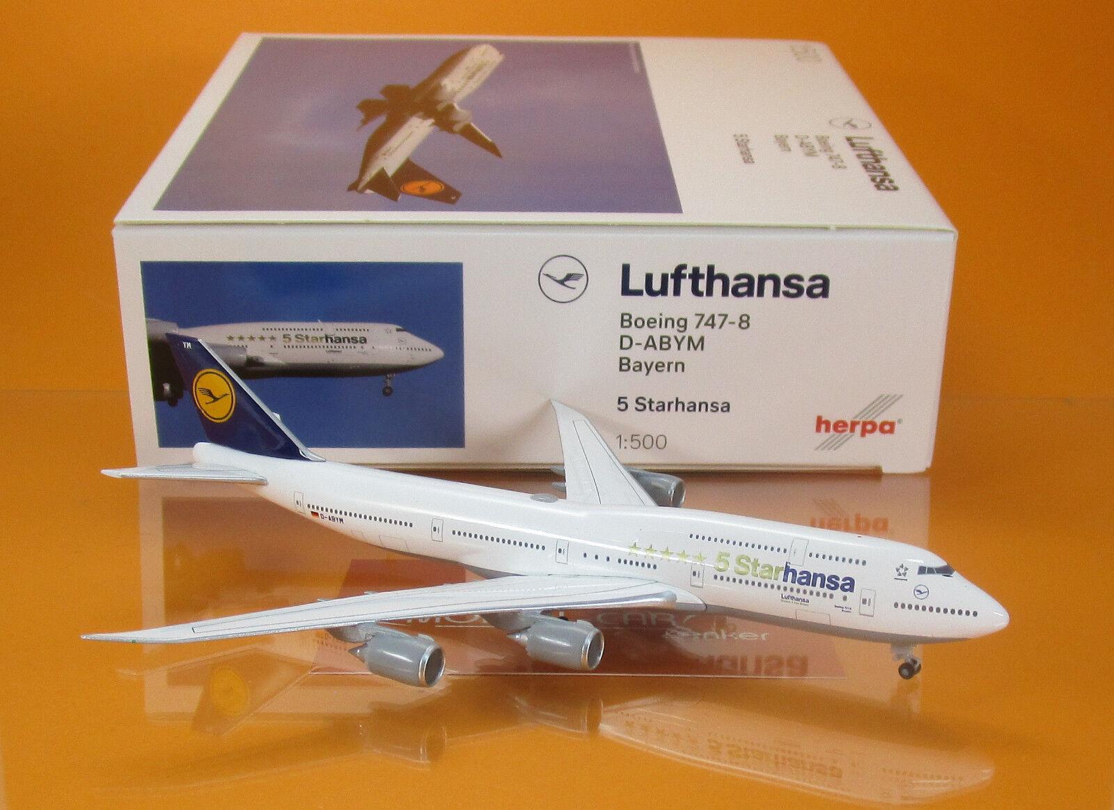 Herpa Wings 1 500 Lufthansa Boeing 747-8 intercontinental  starhansa  531504