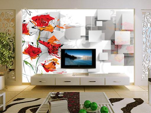 3D Abstract Flowers 92 Wall Paper Murals Wall Print Wall Wallpaper Mural AU Kyra