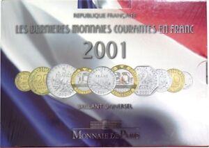 0056 - Coffret Bu - Francs - 2001 - 1 Centime à 20 Francs : Sous Blister