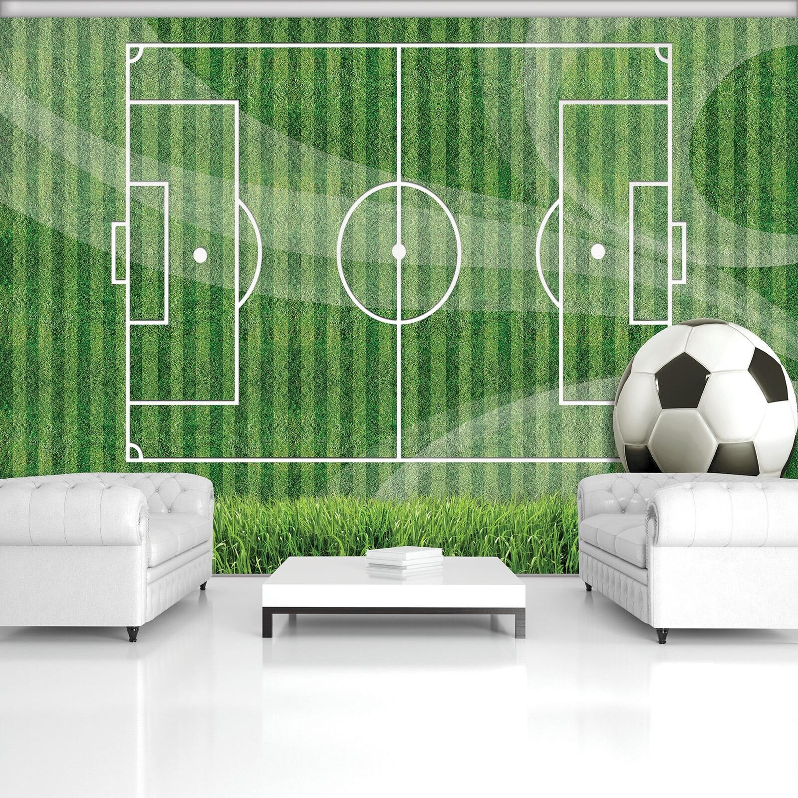 Photo Wallpaper Mural Non-woven 20109_VEN Football Pitch Football Field Green Sp