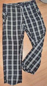 Oakley-Black-Grey-Plaid-Golf-Pants-Slacks-Men-039-s-Size-38-32-100-Cotton