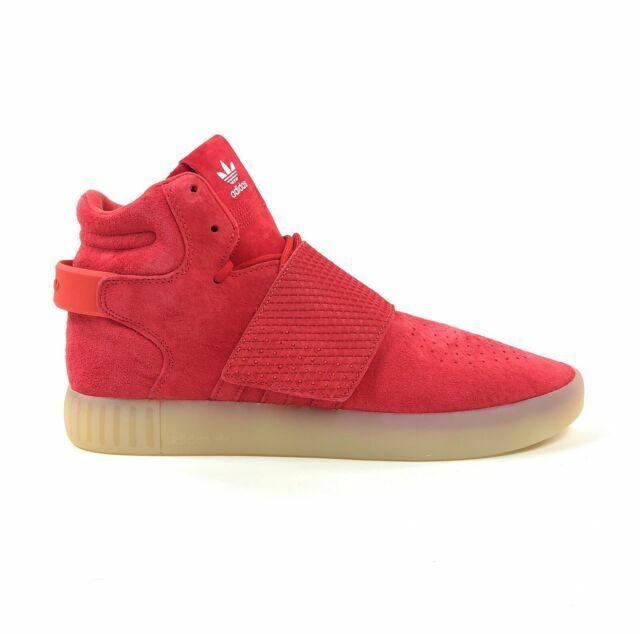 Size 10.5 - adidas Tubular Invader Strap Red