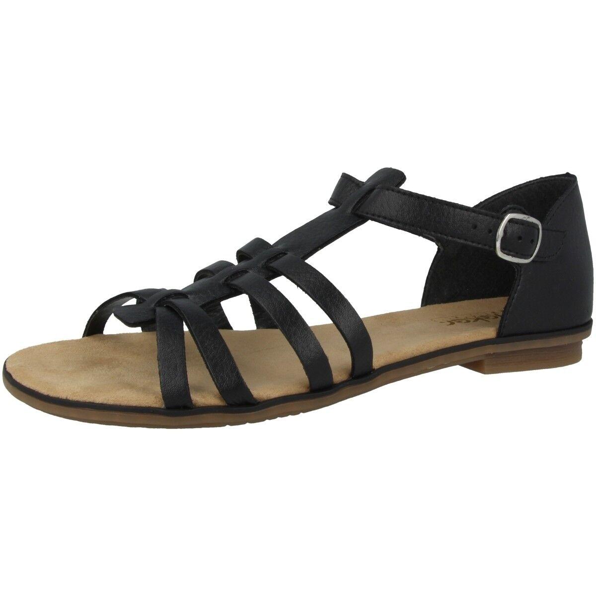 Rieker 'kalkutta women women casual sandals shoes black sandals 64288-01