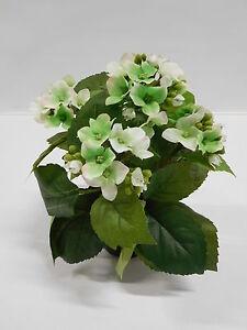 Hortensie Seidenblume Kunstpflanze Weiss Grun Limone 26 Cm 537210 Lm