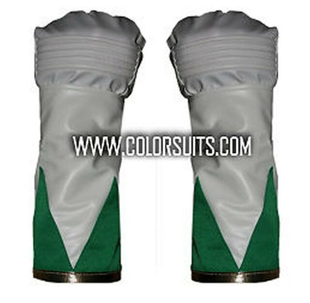 Mighty Morphin Power Rangers Green Ranger Gloves Cuffs - Synthetic Leather