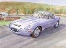 A Portrait of Your Classic Car in Watercolour, Jaguar Lancia Bentley Ferrari etc