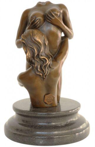 18cm Bronzeskulptur Frau Akt Erotik Antik-Stil Bronze Figur Statue