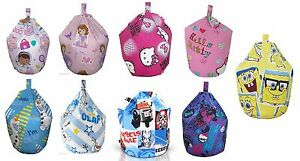Childrens-Bean-Bag-Kids-Girls-Boys-Character-Chair-Seat-Cover-Only-Large