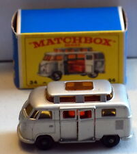 DTE LESNEY MATCHBOX REGULAR WHEELS 34-3 VW VOLKSWAGEN CAMPER W/HIGH ROOF E BOX