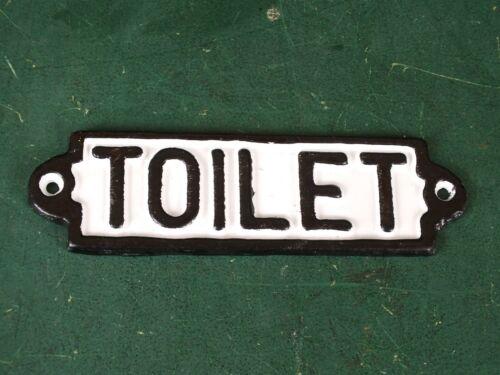 WC Schild Türschild Toilet Toiletten Gusseisen Schwer und Erhaben gegossen