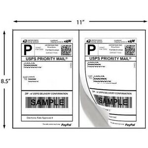 1200-PAYPAL-SHIPPING-POSTAGE-LABELS-2-TO-PAGE-8-5x5-5-Expedited-Shipping