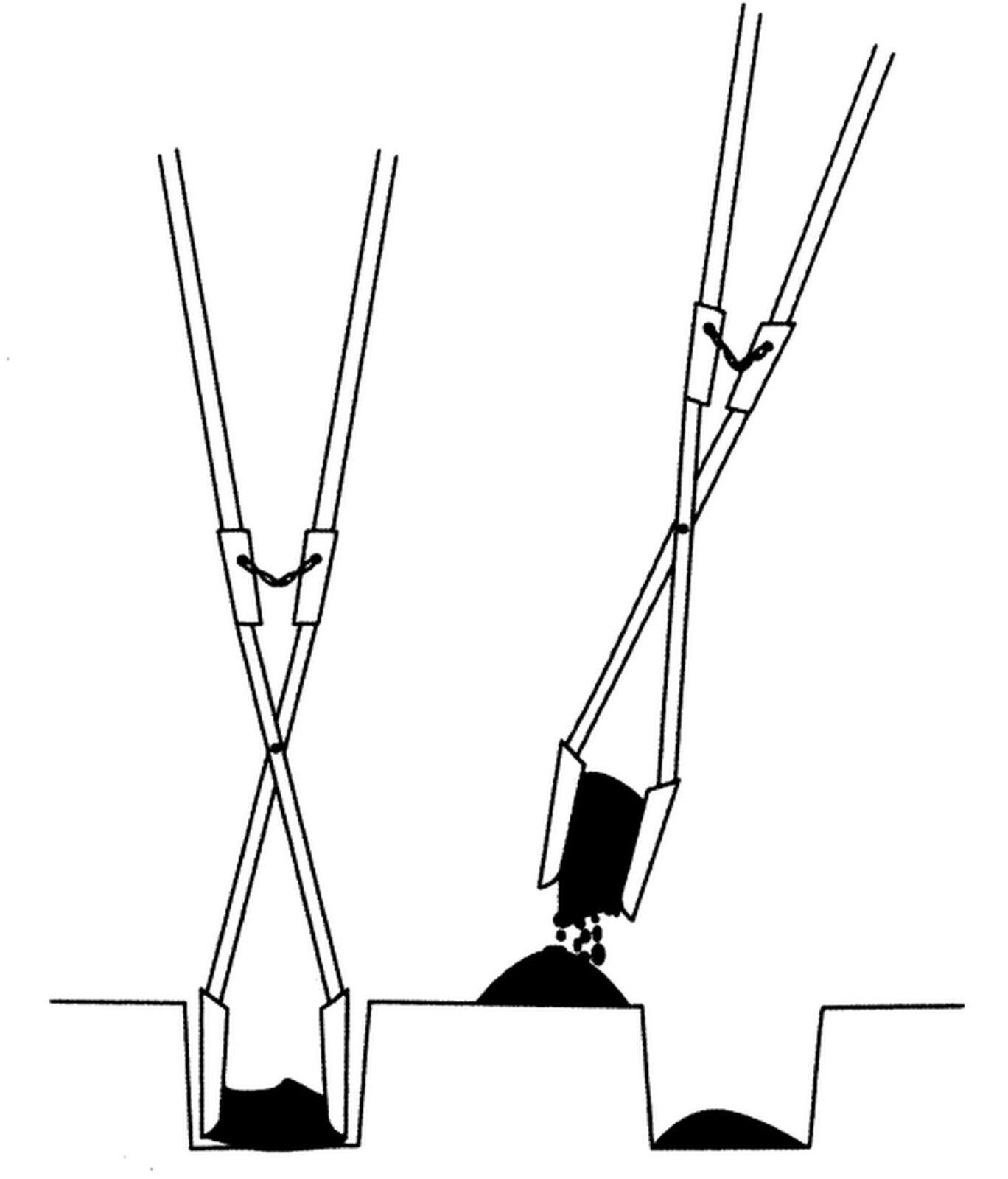 IDEAL Erdlochausheber JUMBO Gr. 2 -  220x190 150mm m. m. m. 2 Eschenstielen 2155538 4aa0dc