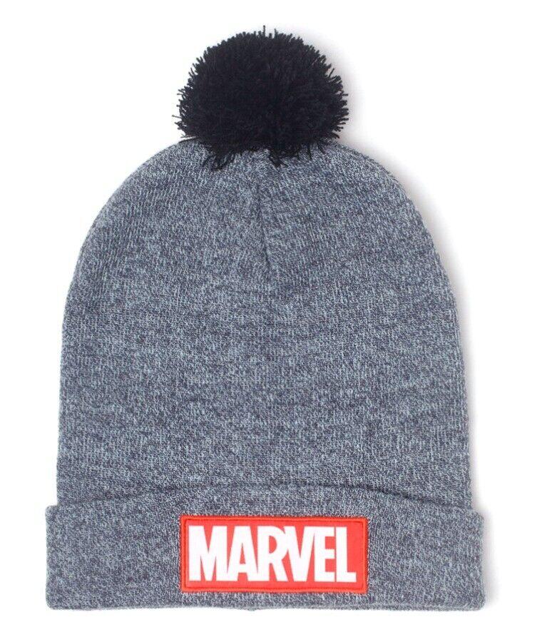 Berretta Marvel Klassisch Logo Beanie Hat Grau With Pom Difuzed