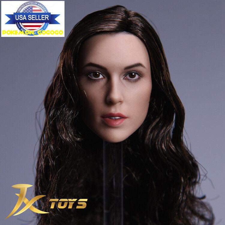 1 6 Gal Gadot WONDER WOMAN Female Head Sculpt C For Hot Toys Phicen Figure ❶USA❶
