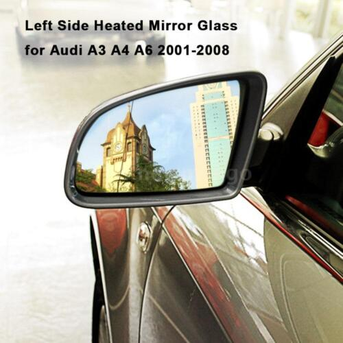 For Audi A3 A4 A6 2001-2008 Left Side Heated Wing Rearview Mirror Glass Z8P9