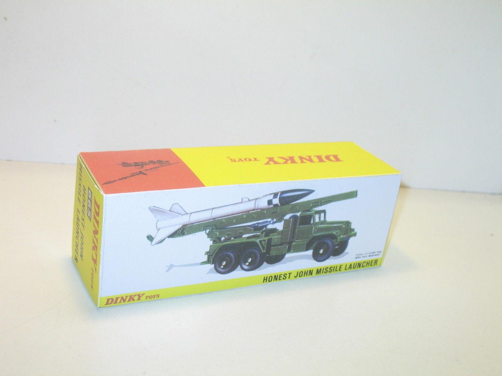 N93,  BOITE camion fusée honest john militaire,  repro dinky toys ref 665