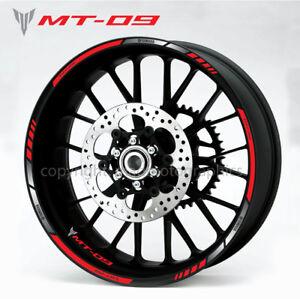 Details Zu Mt 09 Motorcycle Bike Wheel Decals Rim Stickers Set Stripes 900 Mt09 Tracer Mt