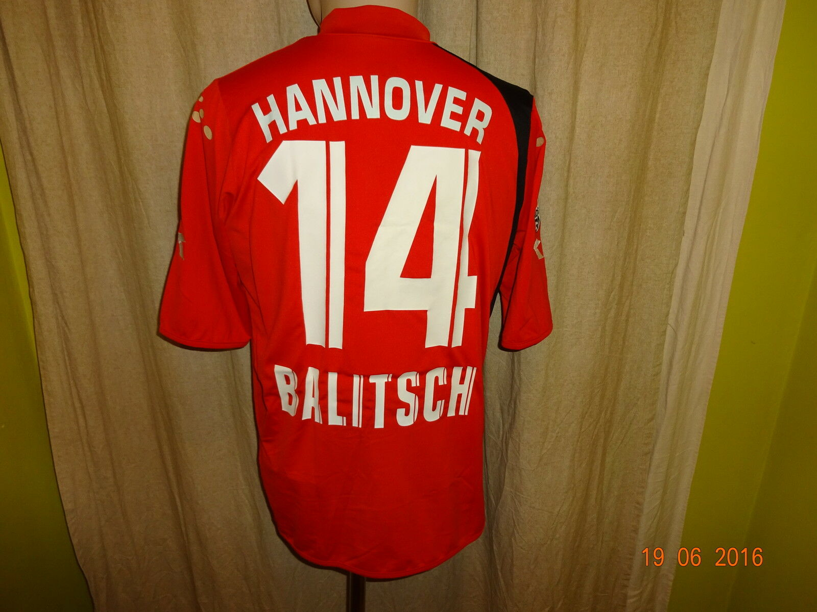 Hannover 96 Original Diadora Heim Trikot 2005 2005 2005 06  TUI  + Nr.14 Balitsch Gr.M- L    Sehr gute Qualität  5b0ff4
