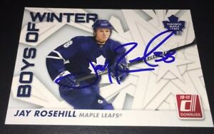 JAY-ROSEHILL-SIGNED-2010-11-DONRUSS-BOYS-OF-WINTER-70-CARD-AUTOGRAPHED-LEAFS