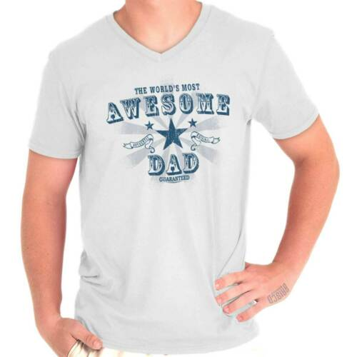 Awesome Dad Shirt World Greatest Father Day Gift Funny Cool V-Neck T Shirt