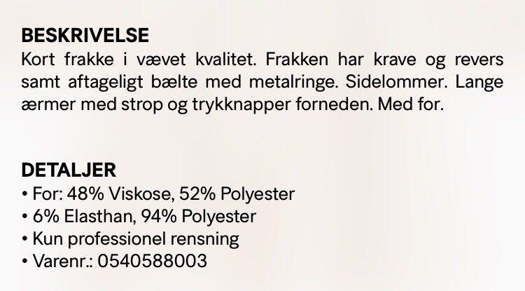 Frakke, str. 38, H&M
