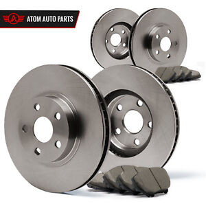 Front-Rear-Rotors-w-Ceramic-Pads-OE-Brakes-2013-ILX-2012-13-Civic-Si