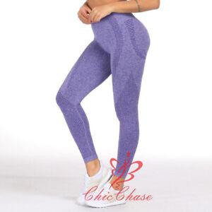 Womens Vital Seamless Leggings Gym Sportswear Yoga Pants Running Fitness Trouser