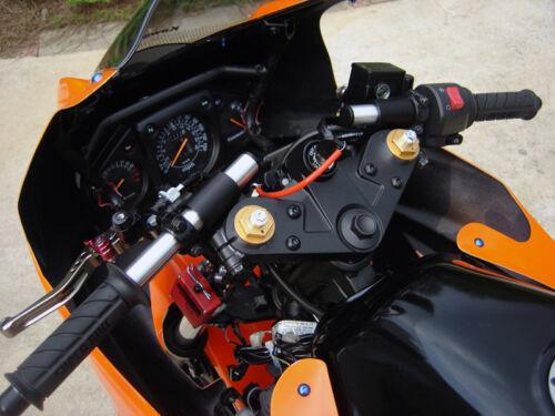 Red 1994-2011 Kawasaki Ninja 500R EX500 GPZ500 Preload Fork Adjuster Spring Bolt