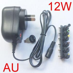 12W-AU-plug-AC-DC-Universal-power-adapter-3V-4-5V-5V-6V-7-5V-9V-12V-1A-1-2A-New