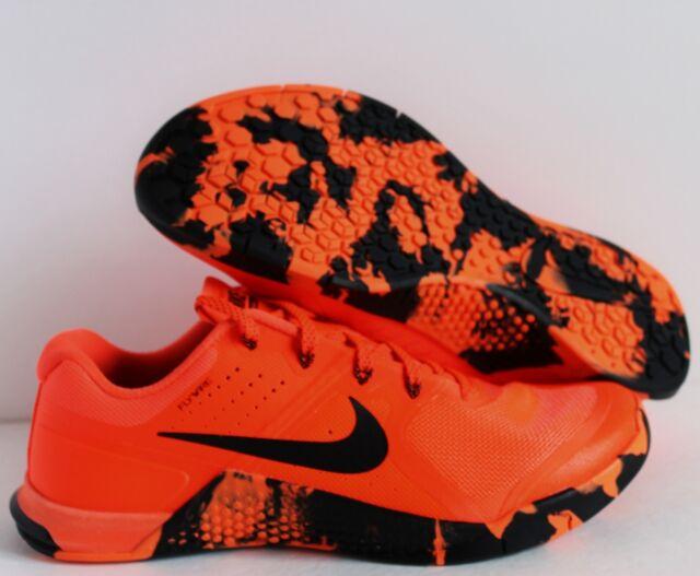 Nike Metcon 2 Amp Mens Crossfit Training Shoes 12 Total Crimson Black  819902 600 11961f964
