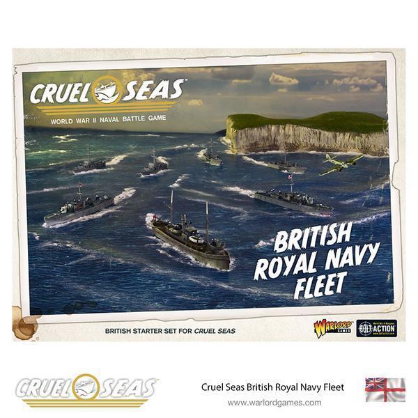 BRITISH ROYAL NAVY FLEET - WARLORD GAMES - WORLD WAR 2 NAVAL GAME- NOW