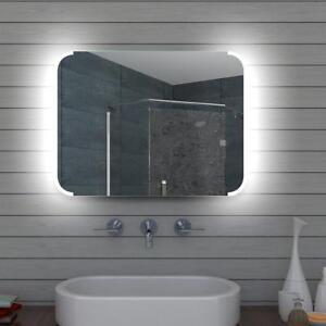 Details zu LED Beleuchtung Kalt weiß licht Bad Badezimmer spiegel  Wandspiegel 80 x 60 cm