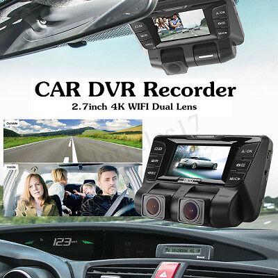 4K hidden Wifi Car DVR Video recorder Camera Dash Cam Dual Lens For Car DVR UK*