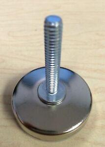 "1/"" Stem Set of 4 Adjustable Steel Threaded Stem Glides Levelers w// Nylon Base"