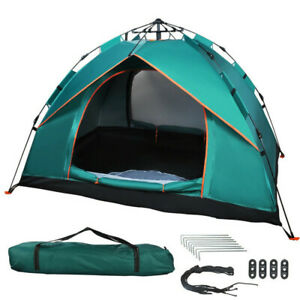 UK 2-3 Person Inflatable Automatic Instant Tent Camping Family Festival Shelter