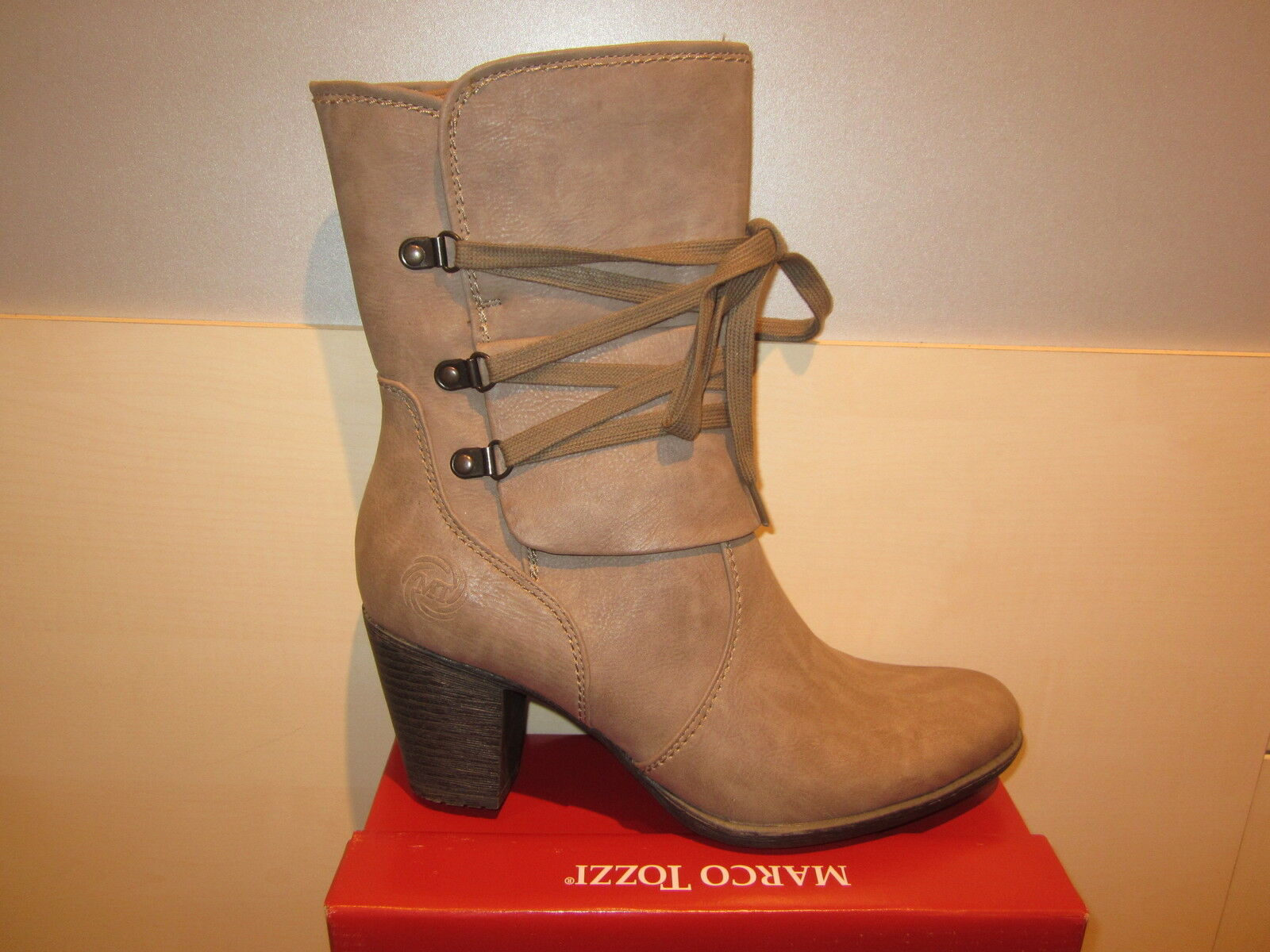 MARCO TOZZI TOZZI TOZZI Boots, Grey   Taupe, Lightly Lined, RV NEW ef3b84
