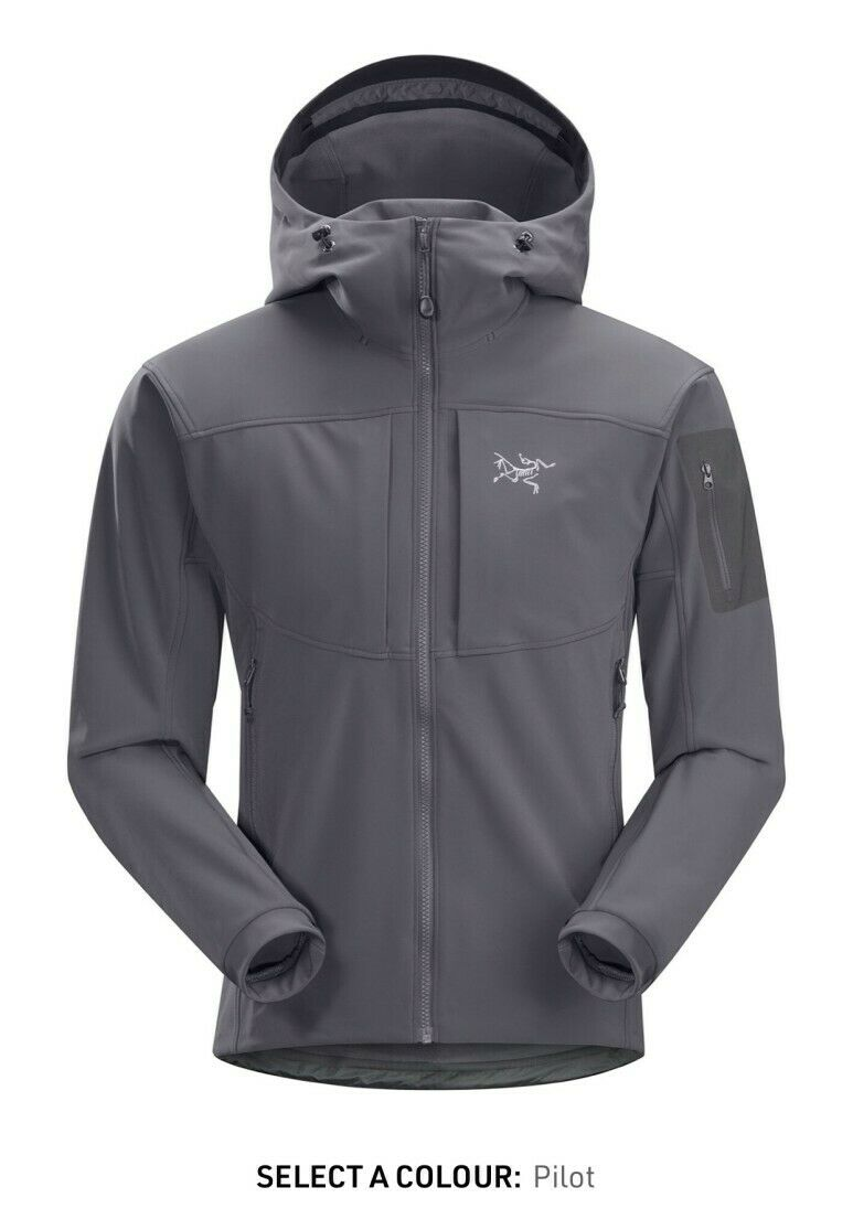 NWT Mens Arcteryx Gamma MX Hoody Jacket Pilot (Gray/Grey) Medium MSRP