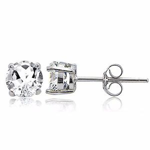925-Sterling-Silver-2ct-White-Topaz-Stud-Earrings