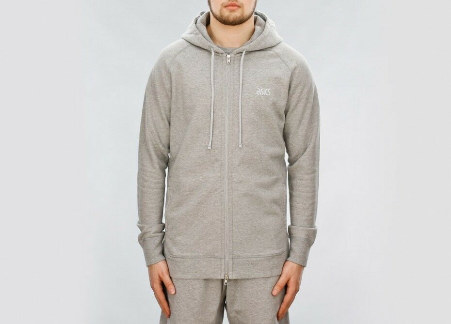 Asics X RC Reigning Champ Full Zip Hoody Hoodie Heather Grau AT16002.98 Large