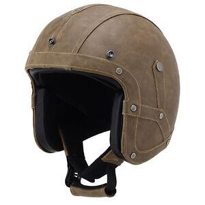 Leather-Motorcycle-Goggles-Vintage-Half-Helmets-Motorcycle-Biker-Cruiser-Scooter