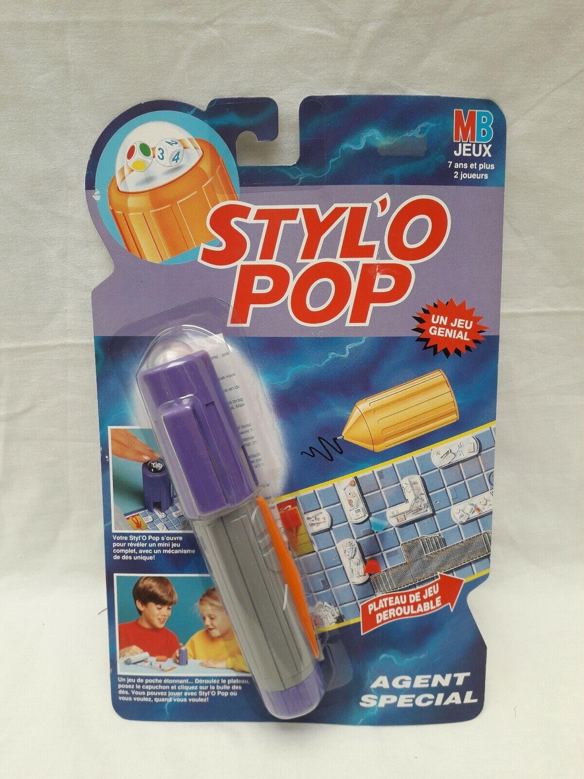 Styl'O  Pop Agent Special MB jeux Neuf blister Vintage 1992 Stylo no Astujeux  qualité pas cher et top