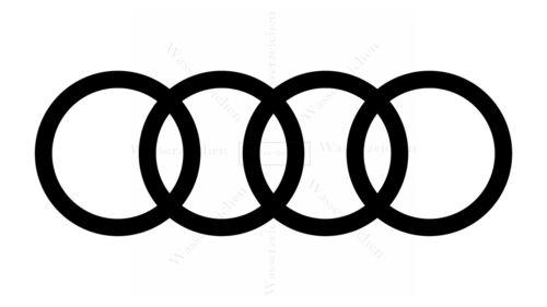 30 cm autocollants-sticker-waschanlagenfest Audi 2016 noir logo voiture ad037