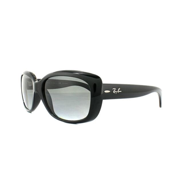 8fae69b1b35 Ray-Ban Sunglasses Jackie Ohh 4101 601 T3 Shiny Black Grey Gradient  Polarized
