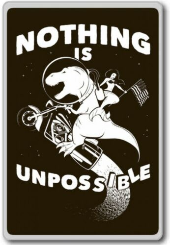 Motivational Quotes Fridge Magnet Nothing Is Unpossible