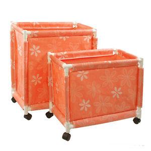 Laundry Rolling Cart Basket Hamper Sorter Storage 4 Wheels